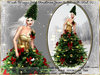 irrisistible : V2 MESH MAGIC GOLD CHRISTMAS GOWN SCRIPTED + HAT