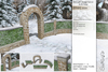 Sway's [Ethan] Brick with Hedge Fence & Archway . Snowy