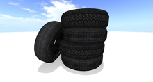 Car old tires Mesh