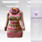 =AF= Cookie Mesh Sweater - Pink Model 2
