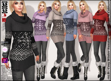 .:S&B:. Cosy Winter Sweater Dress Outfit *6 Colours*
