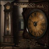 ::Static:: Grandfather Clock - {Rosewood}