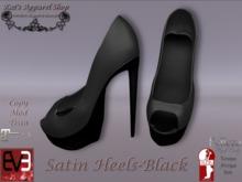 KAS-Satin Heels Black