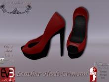 KAS-Leather Heels Crimson