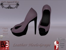 KAS-Leather Heels Grape