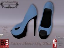 KAS-Satin Heels Sky Blue