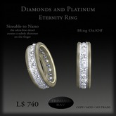Diamonds & Platinum Eternity Ring by Trimmer Bay