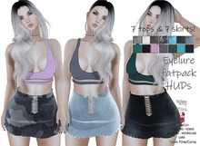 Eyelure DEMO  Lace-Up Skirt and Tiny Bra Top