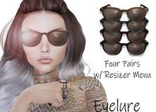 Eyelure Retro Glasses w/Resizer HUD  Fatpack - 4 Colors