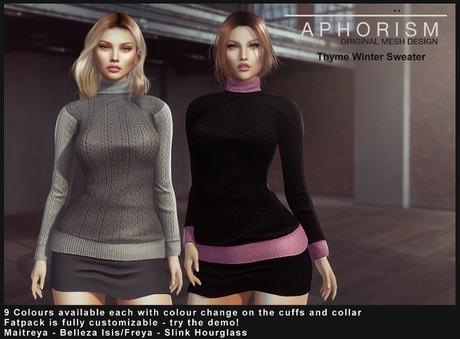 !APHORISM! Thyme Winter Sweater - DEMO