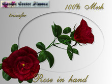 Rose  in hand, red_J006_1