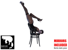 Black Cats poses - Chair dance 1 + mirror