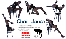 Black Cats poses - Chair dance FATPACK + mirrors