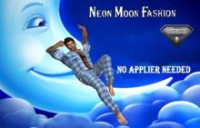 Neon Moon Fashion-Pajama blue