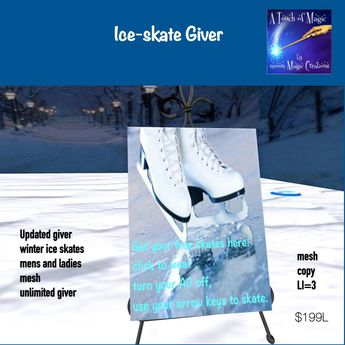 Updated Ladies and Mens mesh Ice skate giver(crate)*******