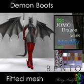 Furry Andy - Demon Boots for Jomo Dragon female