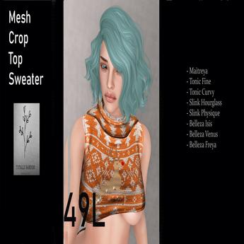 Orange cROP tOP rEVEALING  Ugly Sweater  Rudolf Box 12.3.18