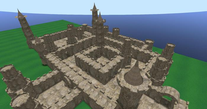 Second Life Marketplace Mesh Castle Walls And Towers