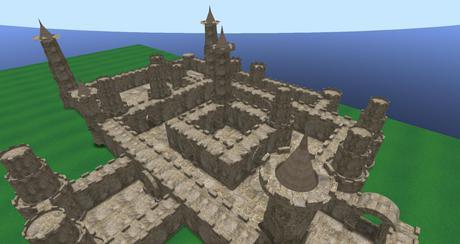 medieval minecraft castle walls