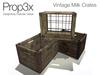 Prop3X Vintage Milk Crates