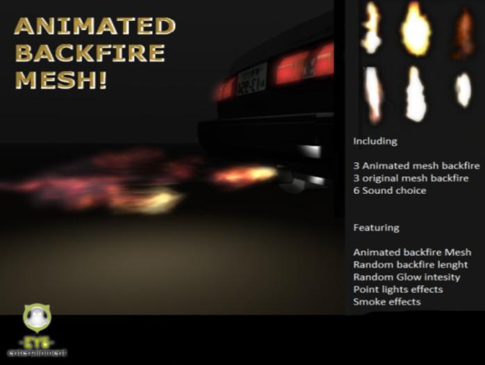D2 Animated Mesh Backfire and smoke -EY6-