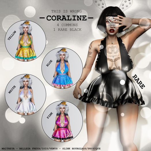 Second Life Marketplace Gacha This Is Wrong Coraline Dress White