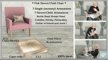 *CC* Parent/Child *Pink Chair* (WEAR+UNPACK)
