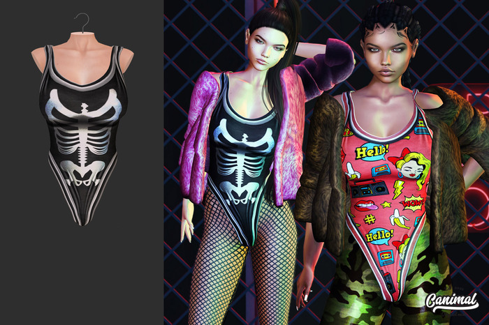 [Canimal] Licious Bodysuit Skelly