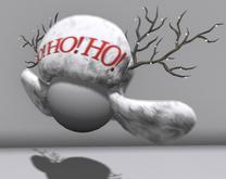 Ho Ho Ho Hat (White)