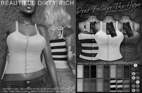 *B.D.R.* Don't Believe The Hype -Tank Top- DEMO