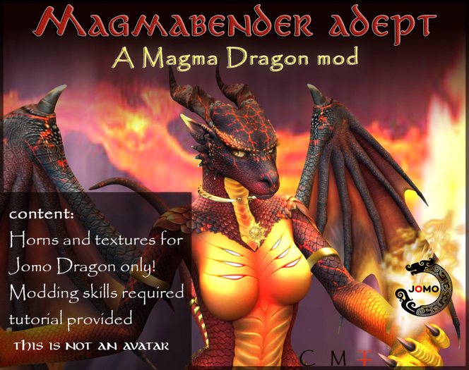 Wear Me - Magma Dragon Mod (Female)- for Jomo