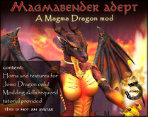Wear Me - Magma Dragon Mod (Female)- for Jomo