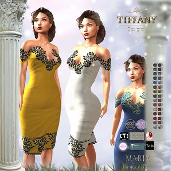 ::TD:: Marie Fitmesh Dress - 30 Textures HUD