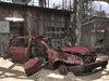 Destroyed Car Red