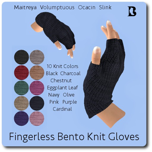 Blackburns Fingerless Bento Knit Gloves & Applier