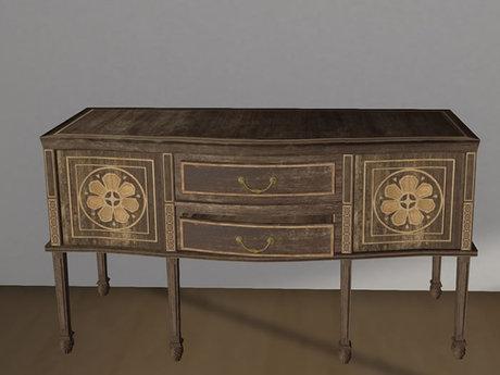 Fancy Table Console Mesh - 1 Prim