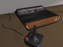 Retro Atari Video game Console Mesh - 2 Prim