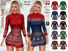 Maci ~ Christina Dress with HUD (Winter Knit Dress for Maitreya, Slink, Belleza, TMP, eBody, Tonic)