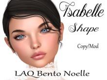 "Isabelle Shape ""LAQ Bento Noelle Head"""