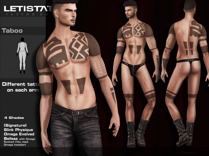 Letis Tattoo :: Taboo :: For Signature, Slink and Belleza* Bodies