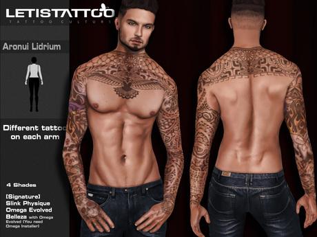 Letis Tattoo :: Aronui + Lidrium :: SS16002 :: WearMeToUnpack