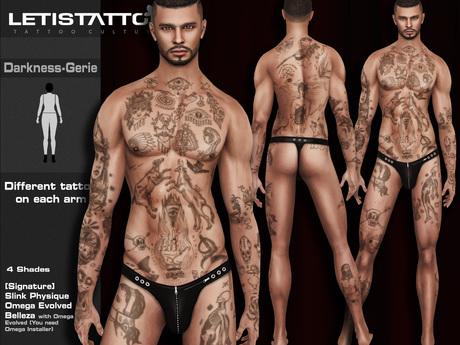 Letis Tattoo :: Darkness-Gerie :: SS16006 :: WearMeToUnpack