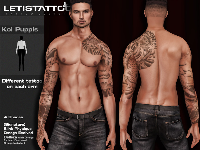 Letis Tattoo :: Koi Puppis :: For Signature, Legacy, Slink and Belleza* Bodies