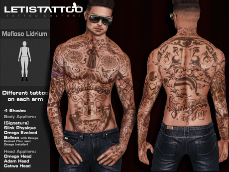 Letis Tattoo :: Mafioso Lidrium :: For Signature, Legacy, Slink and Belleza* Bodies