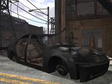 Destroyed Sedan