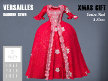 RUSH VERSAILLES Cerise Red GOWN Xmas GIFT
