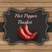 DFS TEXTURE - Hot Pepper Basket