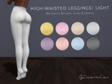[Givoria] High-Waisted Leggings: Light (Maitreya, Slink, Belleza, Omega, Leggings, Applier)