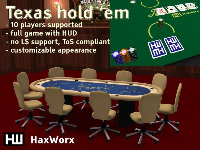 HaxWorx texas hold em poker table