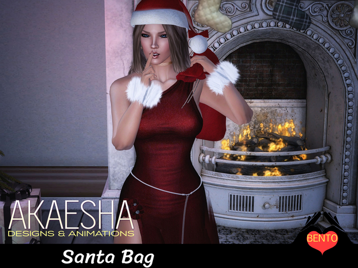 Bento Pose - Holding Santa Bag Shhh pose (includes Santa Bag prop)